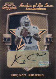 2001 Playoff Contenders ROY Contenders Autographs #16 Quincy Morgan