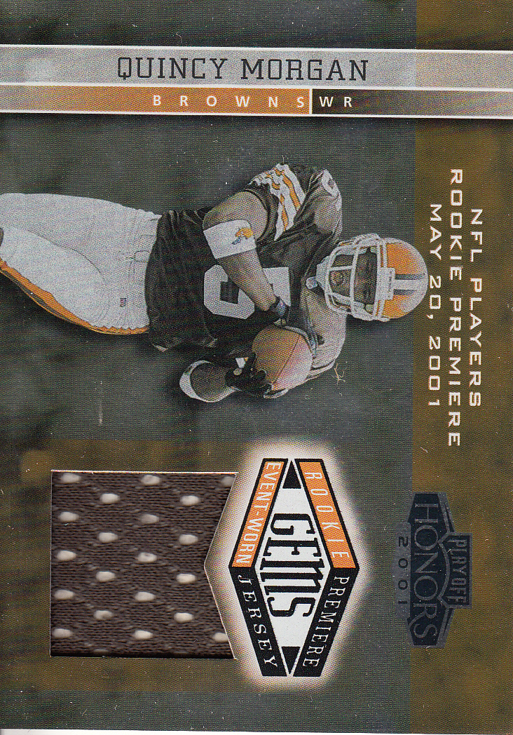 2001 Playoff Honors #220 Quincy Morgan JSY RC