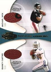 2001 Playoff Honors Rookie Tandem Footballs #RT1 Michael Vick/Quincy Carter