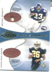 2001 Playoff Honors Rookie Tandem Footballs #RT11 Michael Bennett/Deuce McAllister