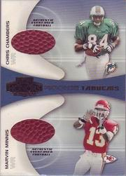 2001 Playoff Honors Rookie Tandem Footballs #RT13 Chris Chambers/Snoop Minnis