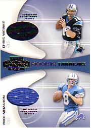 2001 Playoff Honors Rookie Tandem Jerseys #RT2 Chris Weinke/Mike McMahon