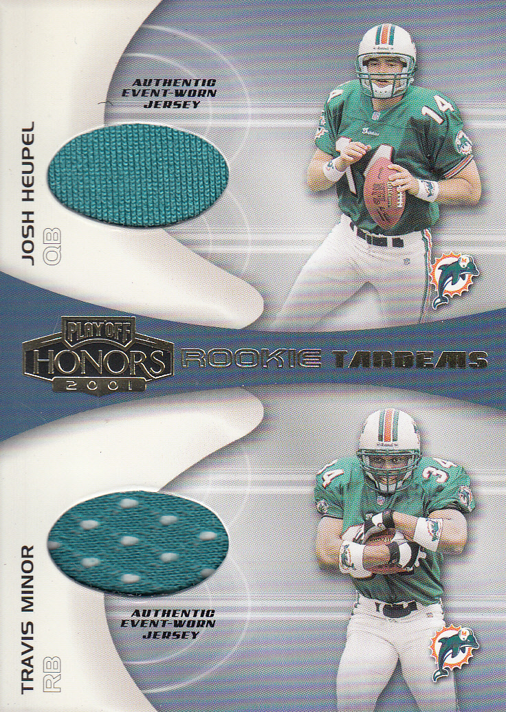 2001 Playoff Honors Rookie Tandem Jerseys #RT7 Josh Heupel/Travis Minor