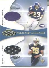 2001 Playoff Honors Rookie Tandem Jerseys #RT11 Michael Bennett/Deuce McAllister