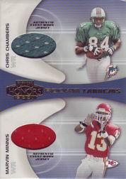 2001 Playoff Honors Rookie Tandem Jerseys #RT13 Chris Chambers/Snoop Minnis