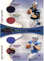 2001 Playoff Honors Rookie Tandem Jerseys and Footballs #RT2 Chris Weinke/Mike McMahon