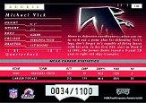 2001 Playoff Preferred #101 Michael Vick RC back image