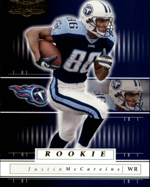 2001 Playoff Preferred #138 Justin McCareins RC