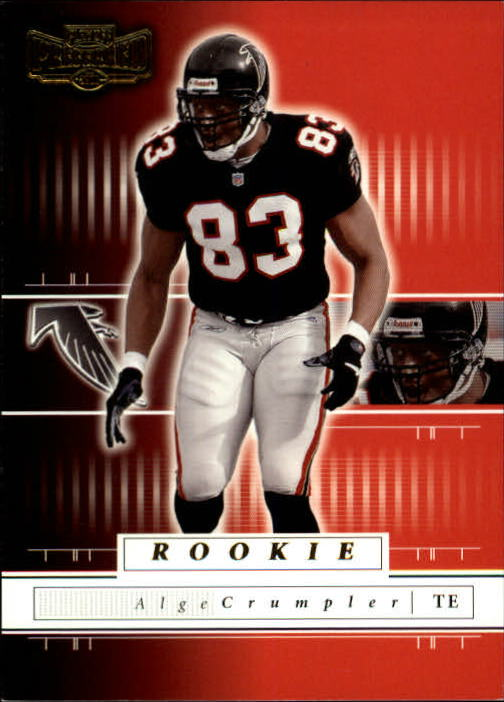 2001 Playoff Preferred #158 Alge Crumpler RC