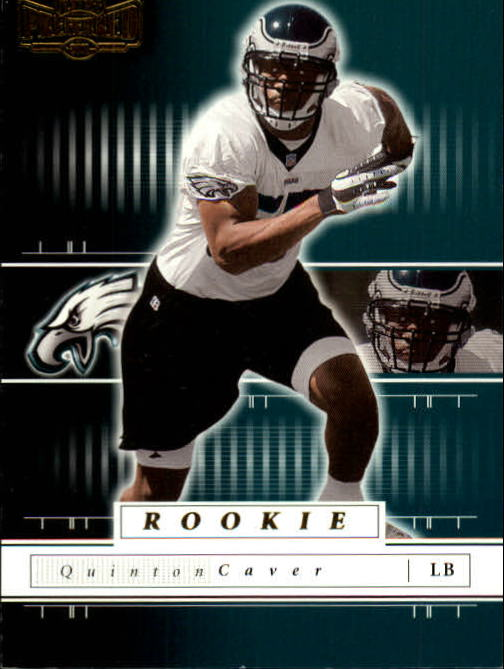 2001 Playoff Preferred #186 Quinton Caver RC