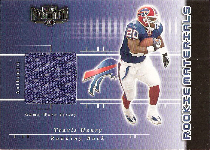 2001 Playoff Preferred #209 Travis Henry JSY/400 RC
