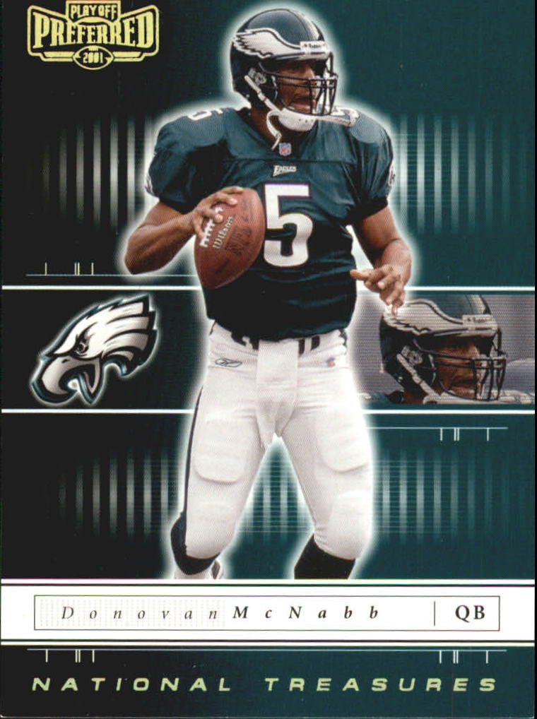 2001 Playoff Preferred National Treasures Gold #83 Donovan McNabb