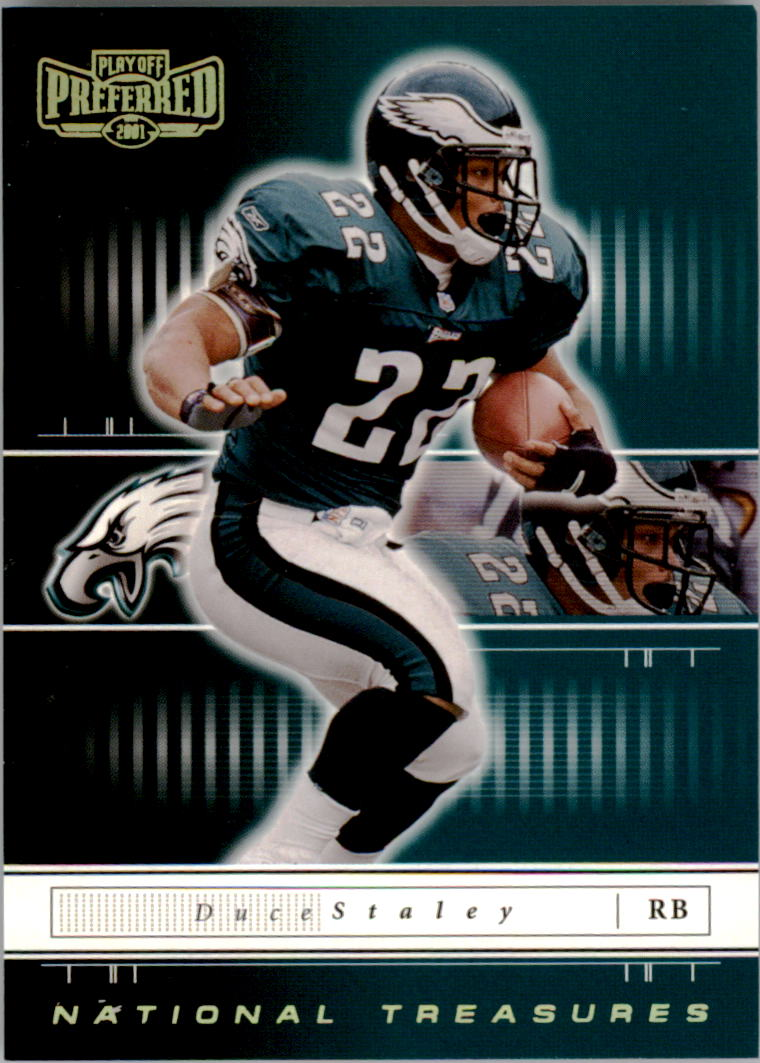 2001 Playoff Preferred National Treasures Gold #85 Duce Staley
