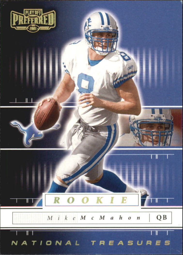 2001 Playoff Preferred National Treasures Gold #106 Mike McMahon
