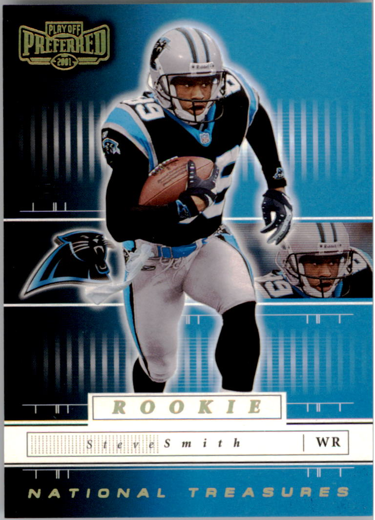 2001 Playoff Preferred National Treasures Gold #137 Steve Smith