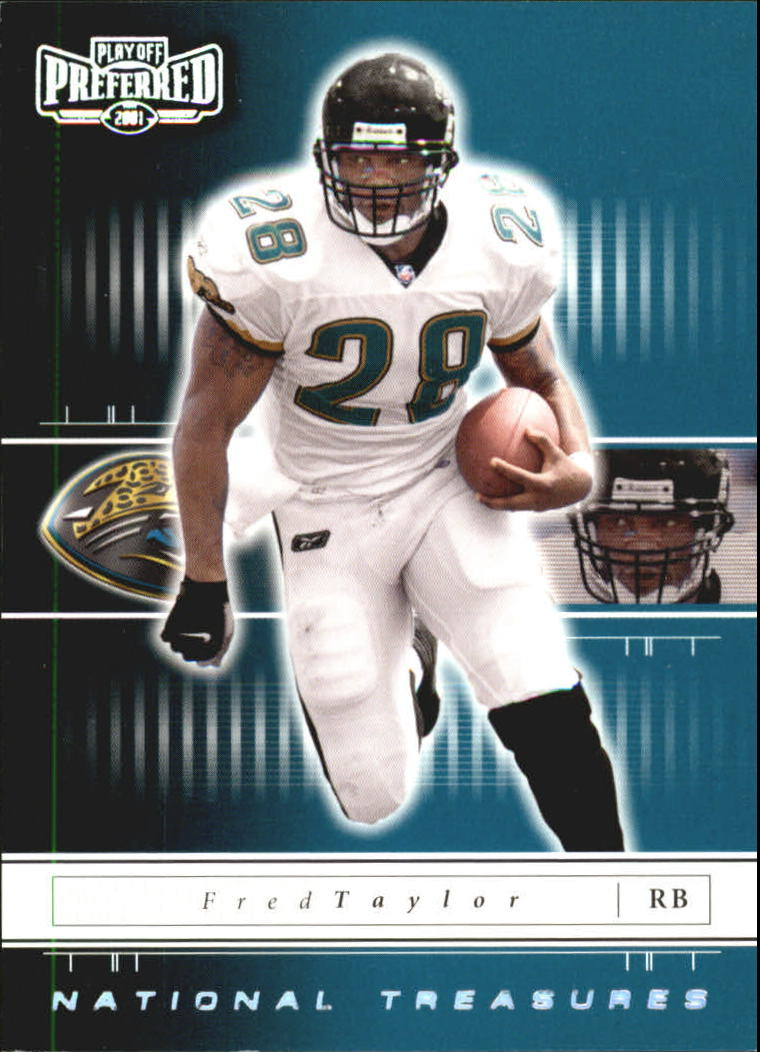 2001 Playoff Preferred National Treasures Silver #20 Fred Taylor