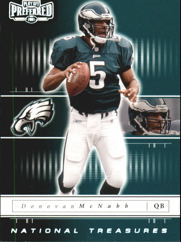 2001 Playoff Preferred National Treasures Silver #83 Donovan McNabb