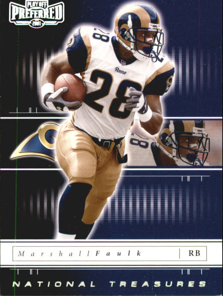 2001 Playoff Preferred National Treasures Silver #90 Marshall Faulk