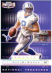 2001 Playoff Preferred National Treasures Silver #106 Mike McMahon