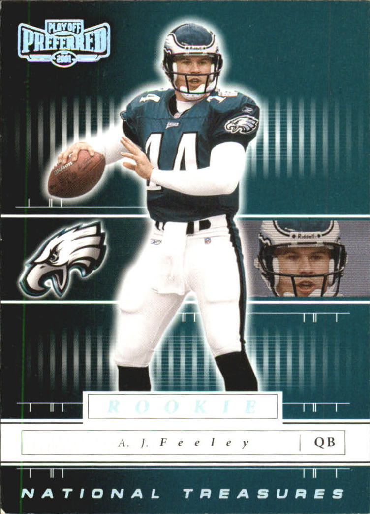 2001 Playoff Preferred National Treasures Silver #107 A.J. Feeley