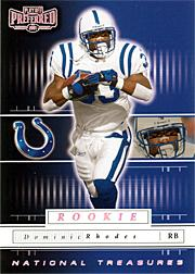 2001 Playoff Preferred National Treasures Silver #120 Dominic Rhodes