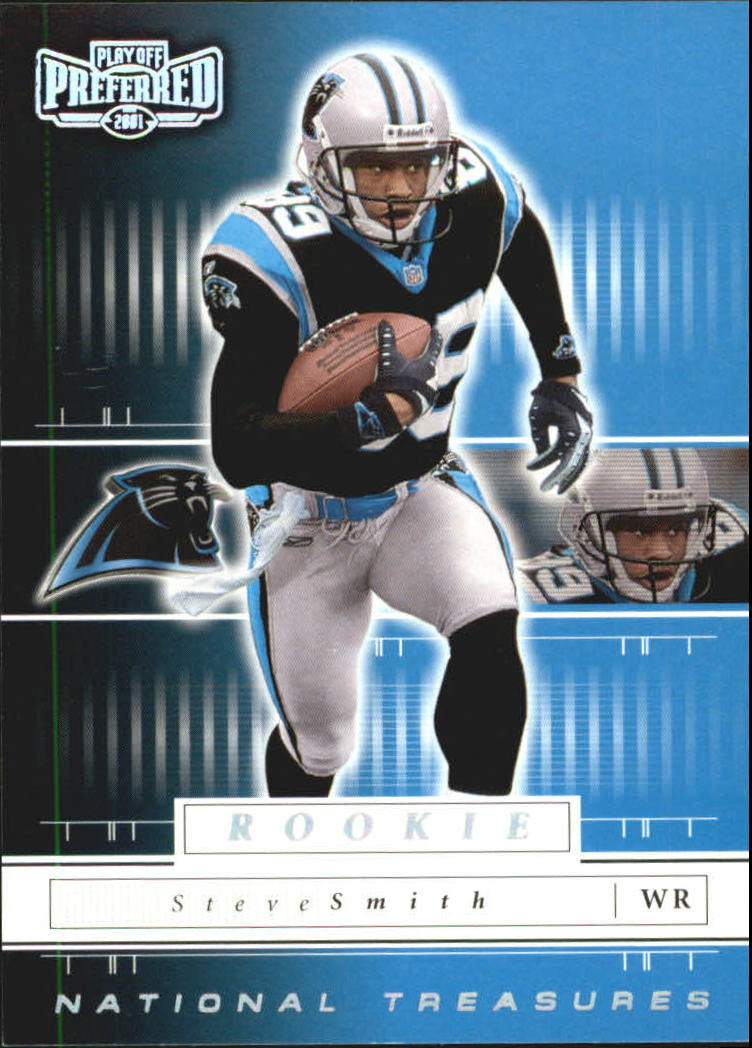 2001 Playoff Preferred National Treasures Silver #137 Steve Smith