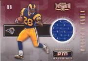 2001 Playoff Preferred Materials #15 Marshall Faulk/100