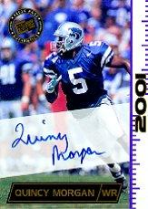 2001 Press Pass Autographs #29 Quincy Morgan