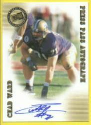 2001 Press Pass Autographs #47 Chad Ward