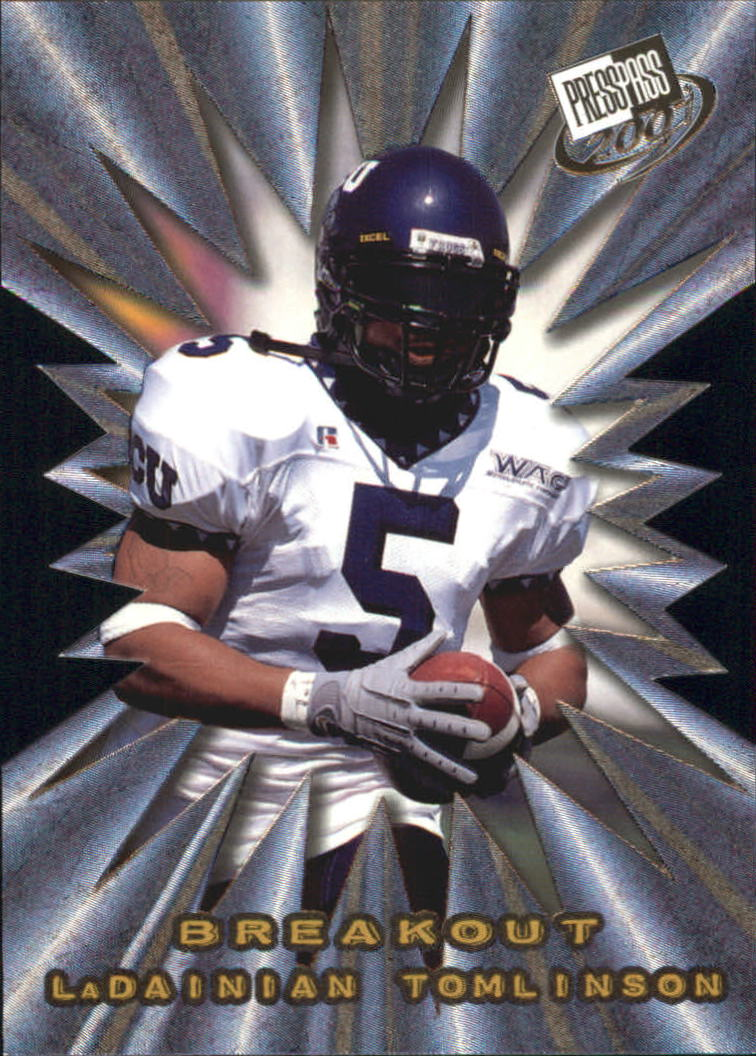 2001 Press Pass Breakout #B9 LaDainian Tomlinson