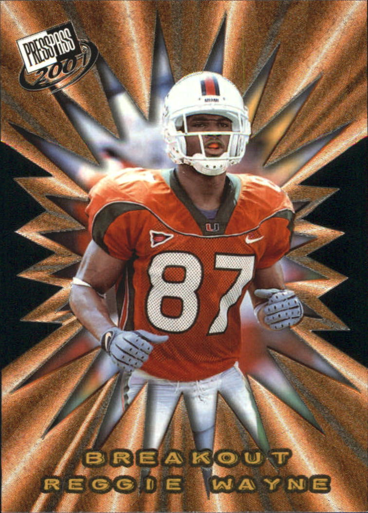 2001 Press Pass Breakout #B24 Reggie Wayne