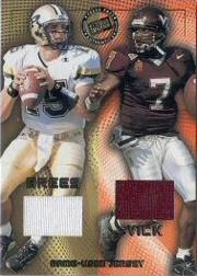 2001 Press Pass Game Jerseys #JCMVDB Michael Vick/Drew Brees