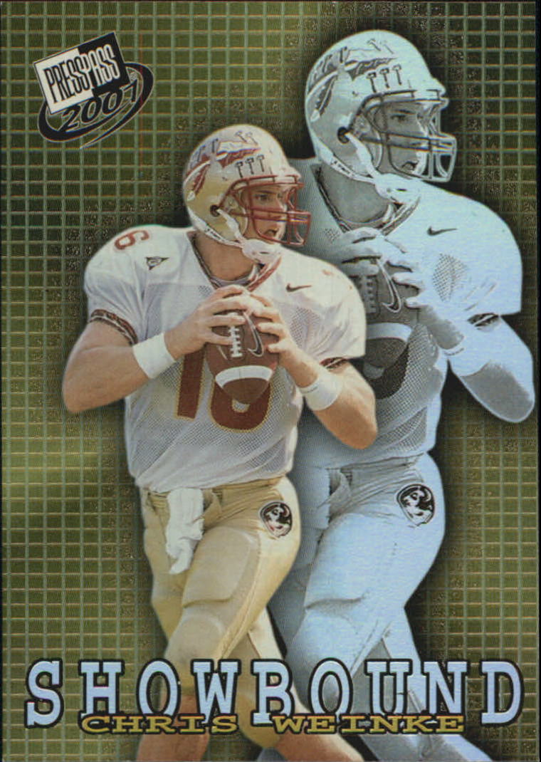 2001 Press Pass Showbound #SB3 Chris Weinke