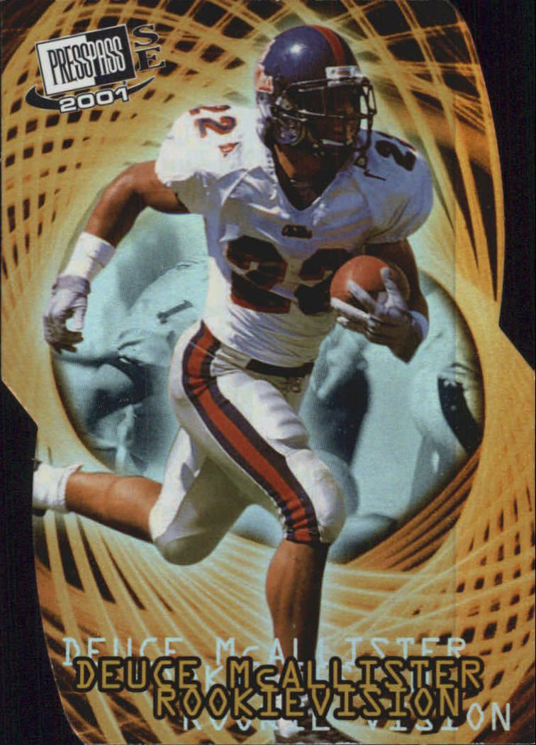 2001 Press Pass SE Rookievision #RV6 Deuce McAllister