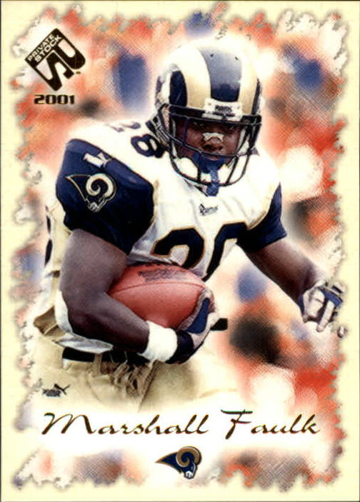 2001 Private Stock #80 Marshall Faulk