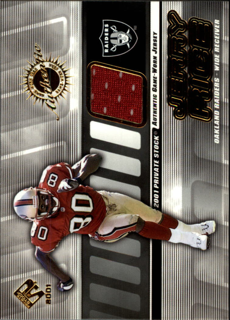 2001 Private Stock Game Worn Gear #113 Jerry Rice