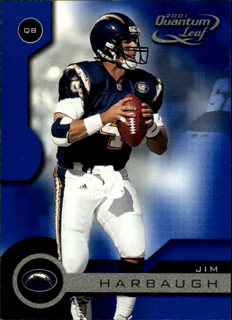 2001 Quantum Leaf #153 Jim Harbaugh front image