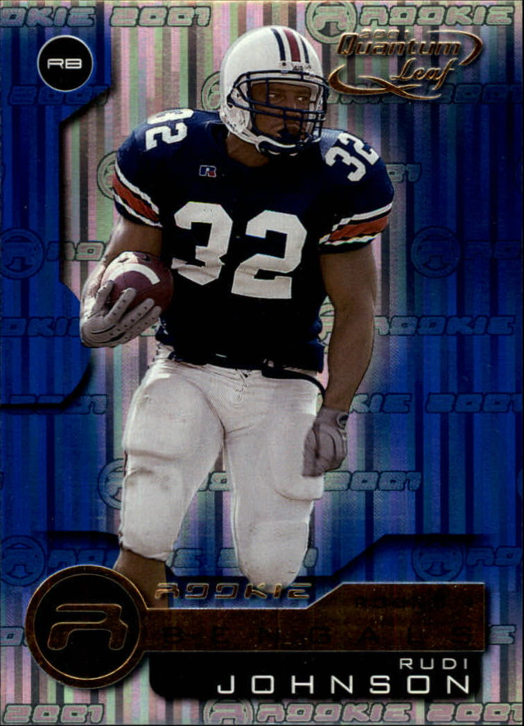 2001 Quantum Leaf #215 Rudi Johnson RC