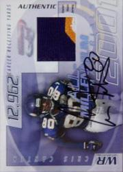 2001 Quantum Leaf All-Millennium Materials Autographs #AMAT16 Cris Carter