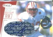 2001 SAGE Autographs Red #A6 Michael Bennett