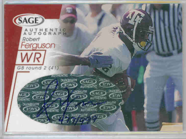 2001 SAGE Autographs Red #A14 Robert Ferguson