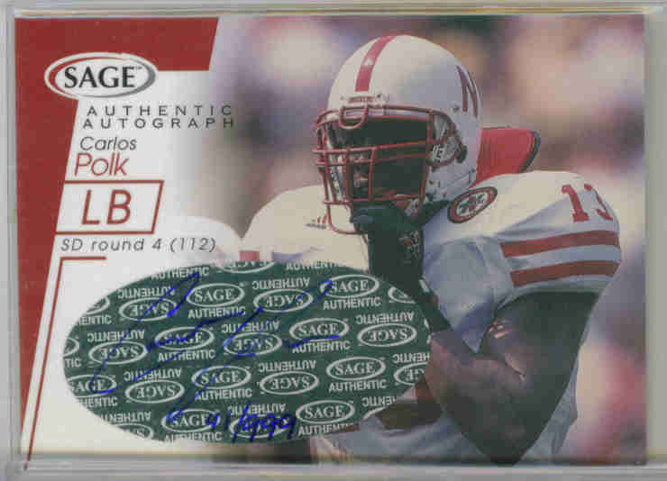 2001 SAGE Autographs Red #A35 Carlos Polk