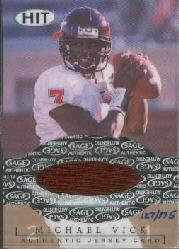 2001 SAGE HIT Jerseys #J3 Michael Vick