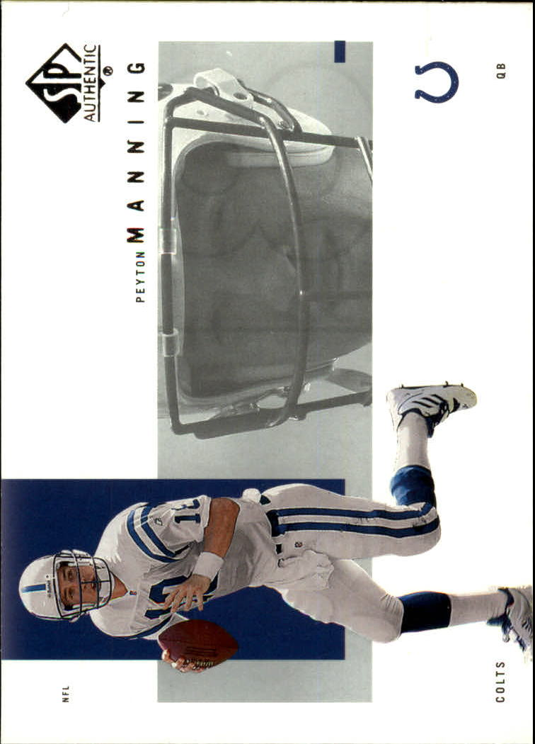 2001 SP Authentic #39 Peyton Manning