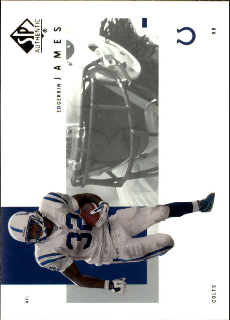 2001 SP Authentic #40 Edgerrin James