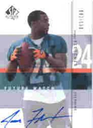 2001 SP Authentic #135 Jamar Fletcher AU RC