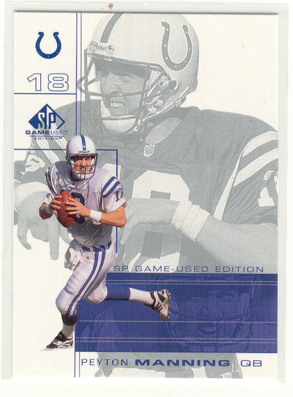 2001 SP Game Used Edition #38 Peyton Manning