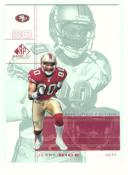 2001 SP Game Used Edition #77 Jerry Rice