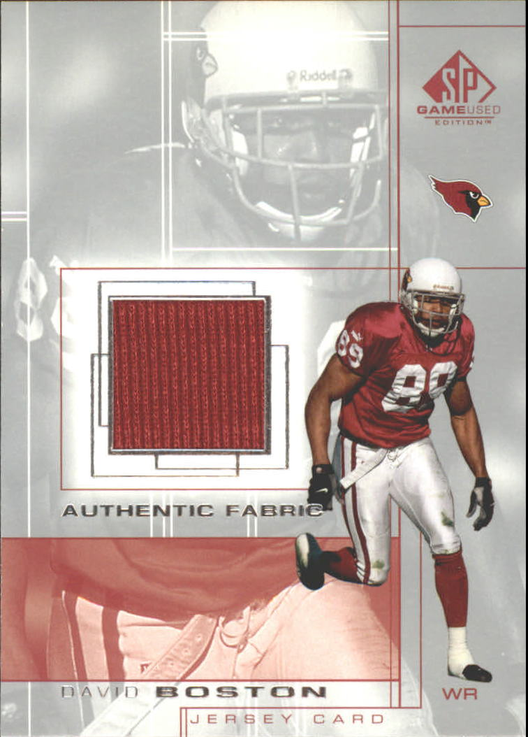 2001 SP Game Used Edition Authentic Fabric #BO David Boston
