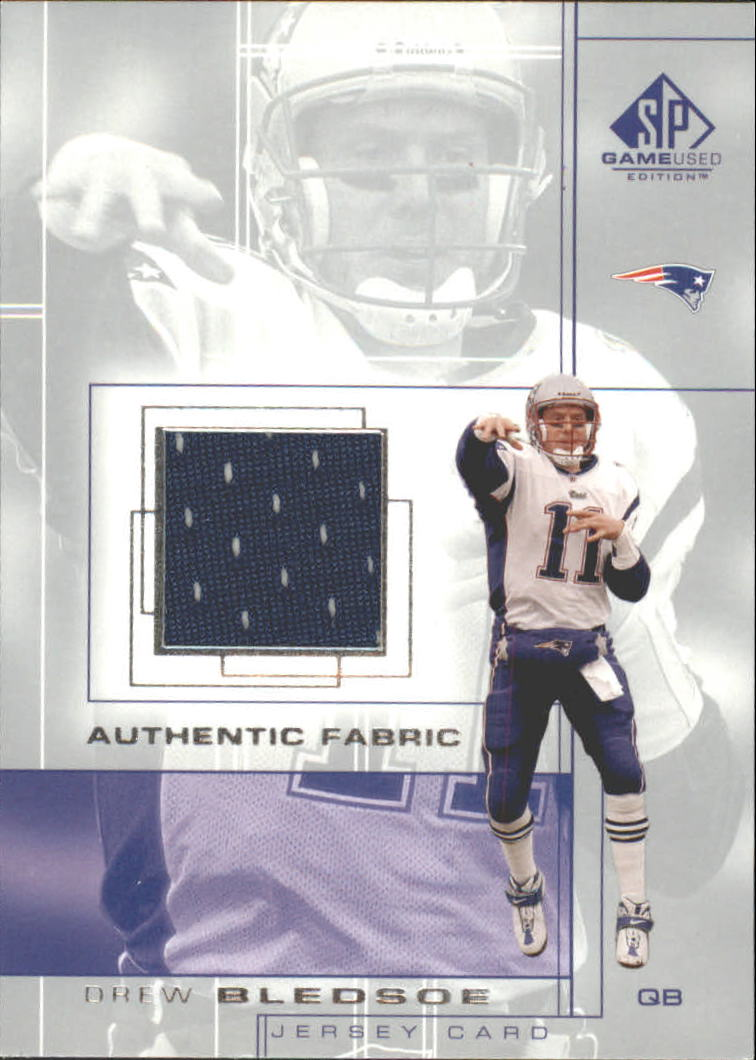 2001 SP Game Used Edition Authentic Fabric #DB Drew Bledsoe